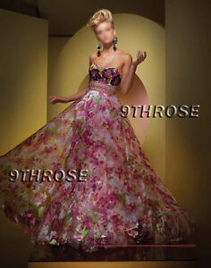 IMPRESS-EVERYONE-PINK-FLORAL-BEADED-FORMAL-EVENING-PROM-BALL-BRIDESMAID-GOWN