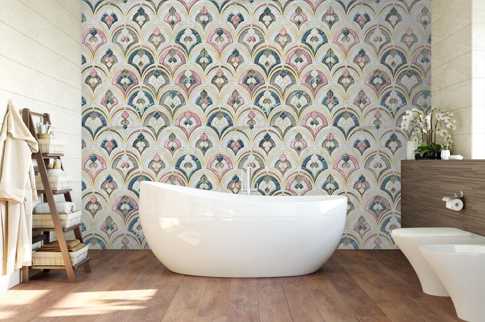 3D Umbrella Pattern 523 Texture Tiles Marble Wall Paper Decal Wallpaper Mural