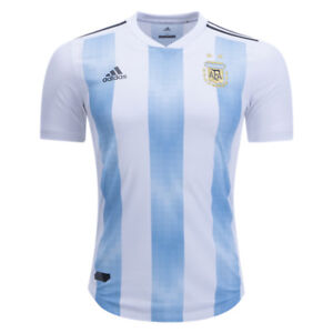 adidas-Men-039-s-Argentina-18-19-Authentic-Home-Jersey-White-Clear-Blue-BQ9329