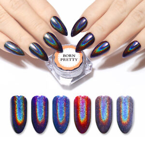 Image Is Loading Born Pretty Holographic Nail Art Powder Laser Mirror