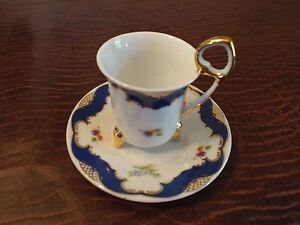 Tiger Yedi Inc Fine Porcelain Japan Style Coffee Cup & Saucers Blue ...
