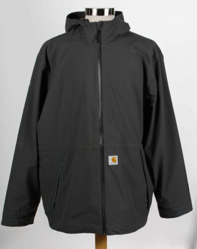 Carhartt Gray Polyester Mens Long Sleeve Hooded Fu