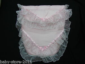 BLUE WHITE BEAUTIFUL HANDMADE DOLLS BRODERIE ANGLAISE  COSYTOES PINK