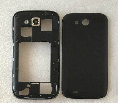 Black Housing Middle Frame+Battery Cover For Samsung Galaxy Grand GT-i9082 i9080