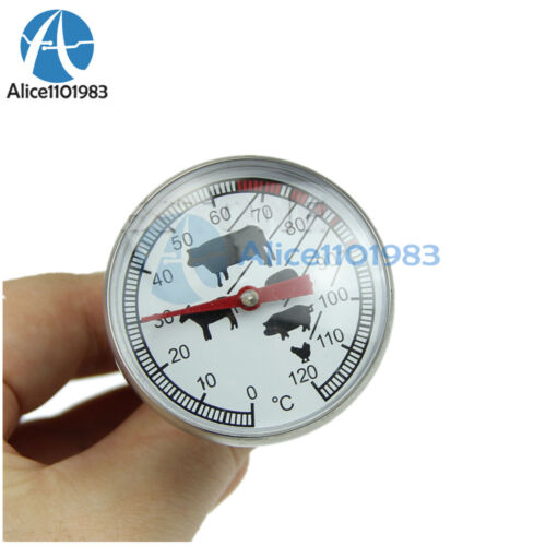 Stainless Steel Instant Read Probe Thermometer BBQ Food Cooking Meat Gauge