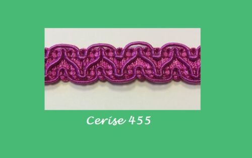 BRAIDS GIMP TRIMS CRAFT FURNITURE 25M 14MM 35 COLOURS IN STOCK FOR NEXT DAY