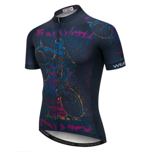 Mens Cycling Jersey Clothing Bicycle Sportswear Short Sleeve Bike Shirt Top XJ02