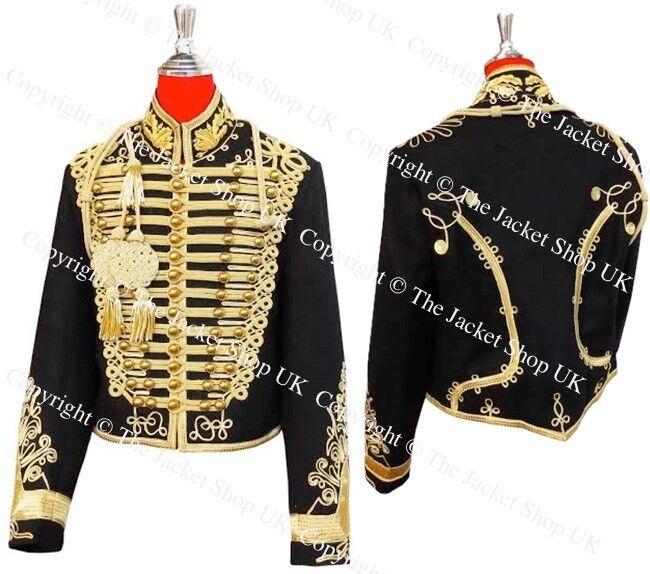 Hussars Dolman - Gilt Braid Collar and Aiguillette Tunic