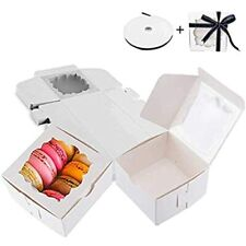 Thalia 60 Pack Bakery Boxes With Window Pastry Donut Cookie For Gift Giving Ampamp