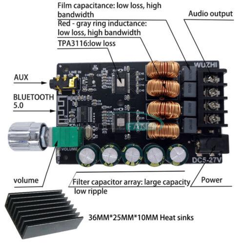 2x100W HIFI AUX+Bluetooth High Power with Filter Digital TPA3116 Amplifier Board