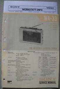 SONY-WA-33-Service-Manual-inkl-MDR-4L1-und-Service-Info
