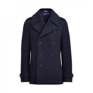 Discover fantastic savings sale retailer Details about $2,995 Ralph Lauren Purple Label Warrington Navy Wool Peacoat  Car Coat Jacket