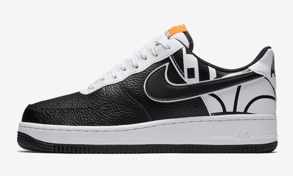 Nike Air Force 1 Low NBA Force Logo Back Black White 823511-011 Men's Size 10.5