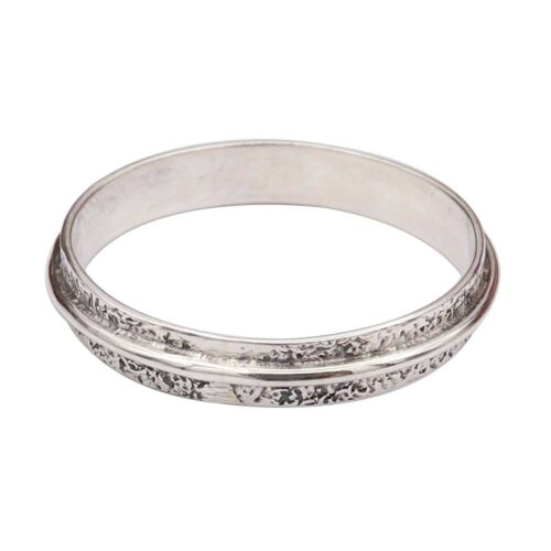 Band Ring Solid 925 Sterling Silver Meditation Ring All Sizes GESR72