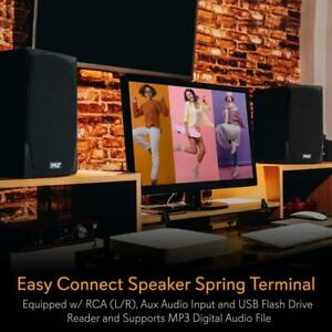 Pyle PBKSP22 HiFi Desktop Monitor Speakers Pair - 300 Watt Powered Bluetooth Compatible Active Ontario Preview