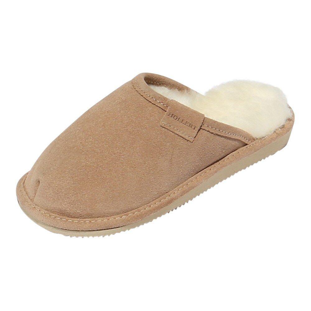 Pantofole in pelle di agnello - Donna Holle ciabatte scarpe pelliccia