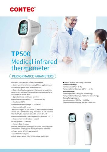 Digital LCD Thermometer Medical infrared thermometer Easy Thermometry Forehead