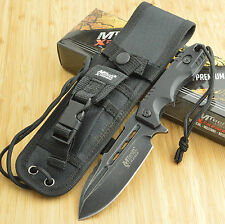 MTech Extreme Blackwash 440C Tactical Fixed Blade Knife With Sheath MX-8136BK