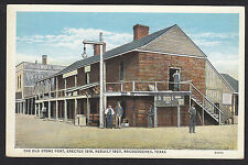 Nacogdoches-Texas-The Old Stone Fort-Vintage Linen Postcard