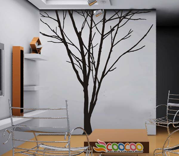 "Wall Decor Decal Sticker Removable large 84"" tree trunk"
