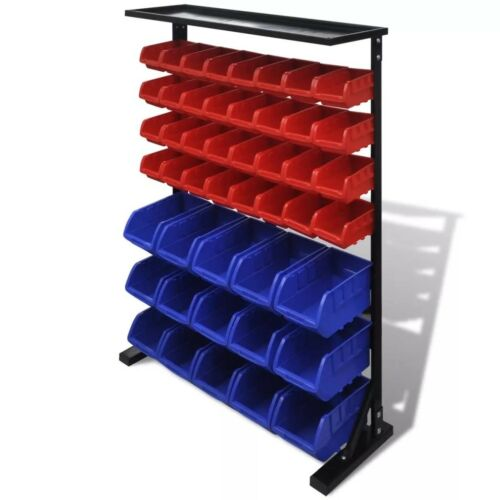 47Pc Floor Standing Workshop Parts Stock Accessories Storage Box Trays Organiser