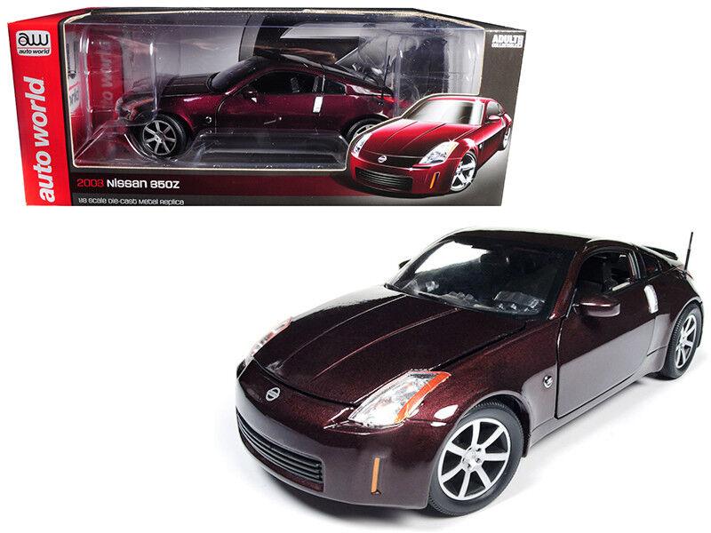 100% a estrenar con calidad original. Auto World 1 18 18 18 2003 Nissan 350Z Coupe Diecast Modelo Coche Brickyard Rojo AW240  Ven a elegir tu propio estilo deportivo.