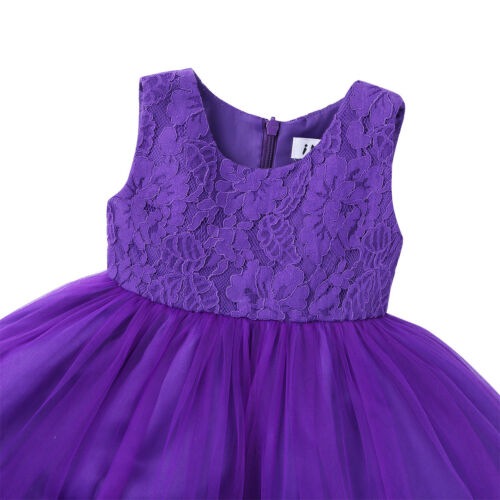 Flower Girls Princess Bow Dress Toddler Baby Wedding Party Pageant Tutu Dresses