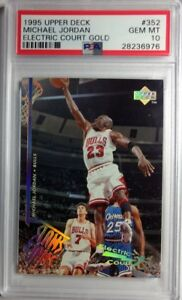 Rare-1995-UPPER-DECK-352-Michael-Jordan-ELECTRIC-COURT-GOLD-POP-6-PSA-10
