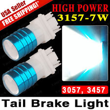 2x Super White 3157 3057 High Power 7W LED Car Tail Brake Reverse Light Bulbs