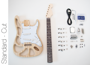 DIY Electric Guitar Kit - ST Style Build Your Own Guitar Alder Cut Body