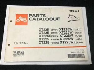 Yamaha Genuine Used Motorcycle Parts Catalogs Serow Xt225 3rw1 Xt225w 4jg1 Ebay