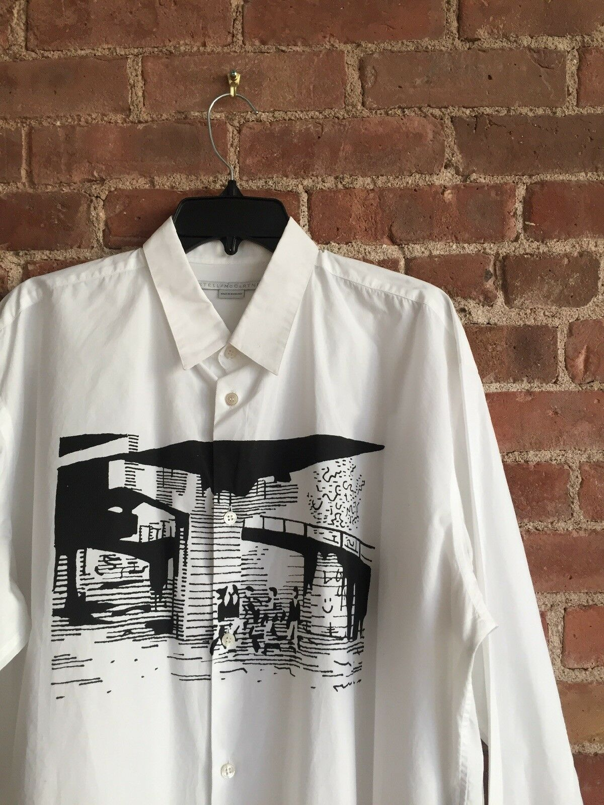 Stella McCartney Men's Shirt, Sz 43 XL