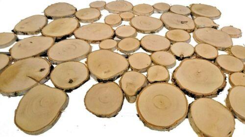 15-30-45pcs Natural Wood Slices 5-14cm Discs Wedding Decor Crafts Cup Coaster