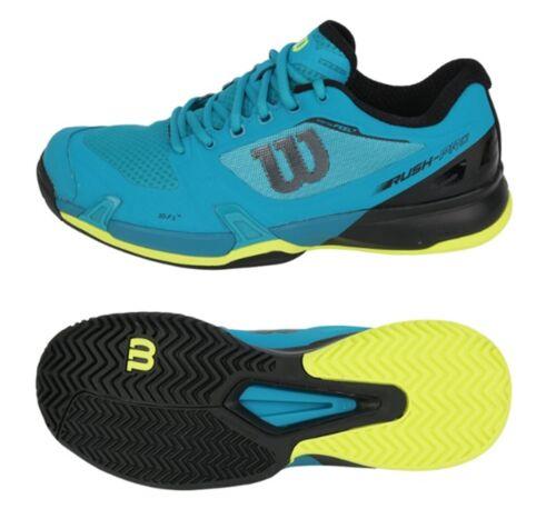 Wilson Men Rush Pro 2.5 Tennis Shoes Running Blue Racket Sneakers Shoe WRS323300