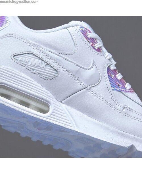 dc61bc05ce ... Nike Air Max 90 PRM Iridescent Hologram Mirror Mirror Mirror MultiColor  Triple White Women's 6 a8789d ...