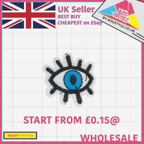 Small Blue Eye Wholesale Embroidery Applique Patches Sew Iron Badge Iron on