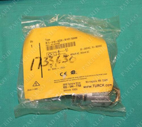 Proximity Sensor 50mm 20-250VAC 4372400 BI5-G18-AZ3X-B1431 Turck