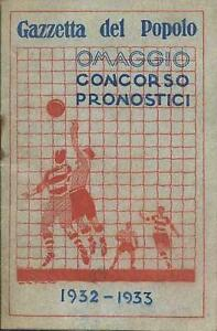 Calendario Campionato Di Calcio.Calendario Campionato Di Calcio Serie A 1932 33