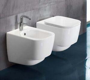 Sanitari bagno sospesi fusion 48 water bidet e sedile a for Sanitari per bagno in offerta
