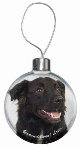 Black Border Collie With Love Christmas Tree Bauble Decoration Gift AD-CB1uCB