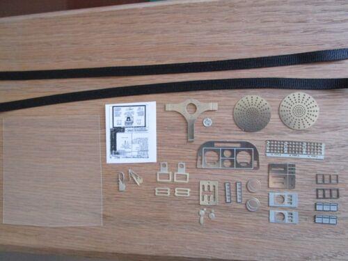 Pocher 1//8 Ferrari Testarossa Metal Transkit Upgrade Kit Interior Details