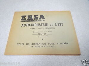 catalogue ersa piece detachee auto industrie de l est nancy citroen reparation ebay. Black Bedroom Furniture Sets. Home Design Ideas