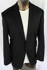 42 R BRIONI NIEMAN MARCUS 100% WOOL 150s BLACK STRIPED SUIT 42R 34X34