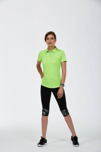 UNEEK Femmes Ultra COOL Polo Sport Respirant Mèche Polo Tee Top T-Shirt