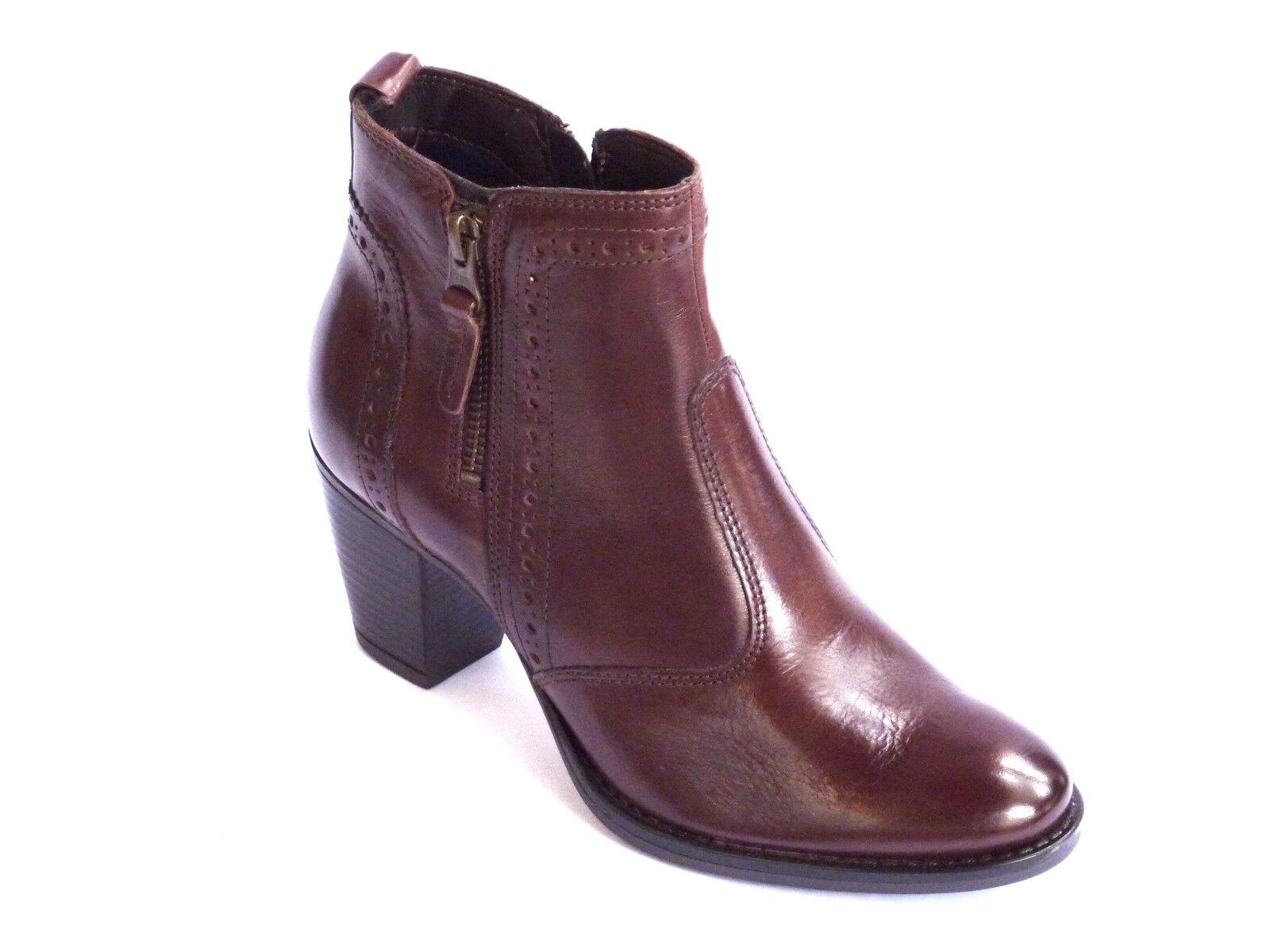Zapatos especiales con descuento STIVALETTI DONNA TRONCHETTO PELLE MARRONE MODA CALDO INVERNO TACCO MEDIO  n. 36