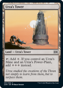 Urza's Tower x4 Magic the Gathering 4x Double Masters mtg card lot