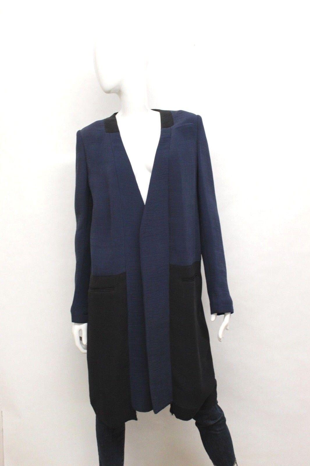 BCBGMAXAZRIA Runway Women's Full Length Open Coat bluee Size  Small