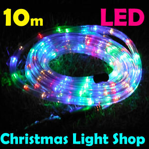 10m multicolour led rope light outdoor christmas party xmas garden image is loading 10m multicolour led rope light outdoor christmas party aloadofball Images