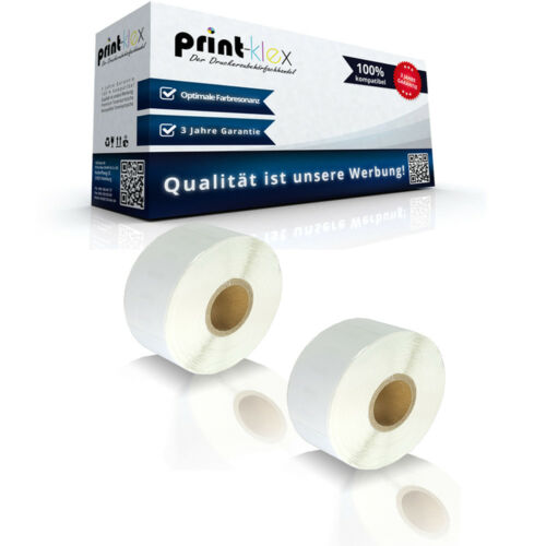 2x XL Etiketten Rollen für Dymo 11352 Labelwriter 310 320 330 400 450 Turbo