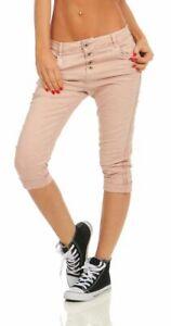 Fashion4Young 11510 Damen Caprihose Slimline Haremshose Sommer Pants 78 Hose Slimfit